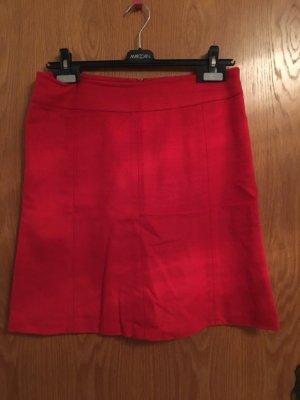 -8- Venice Falda de lana rojo Lana