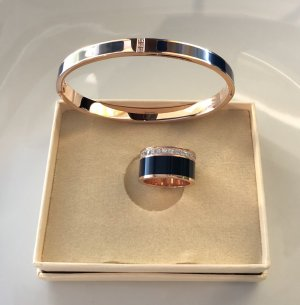 Bangle dark blue-gold-colored