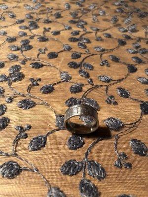 Edelstahl Ring mit 3 Brillanten Gr.52