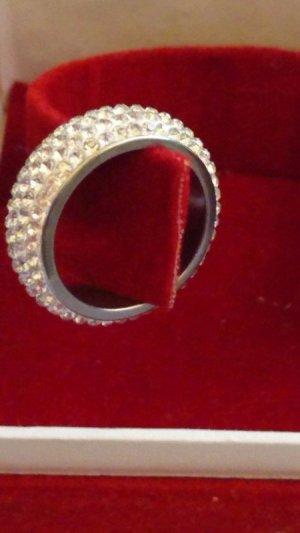Edelstahl Ring mit Swarovski Elements Krystall-Gr.18