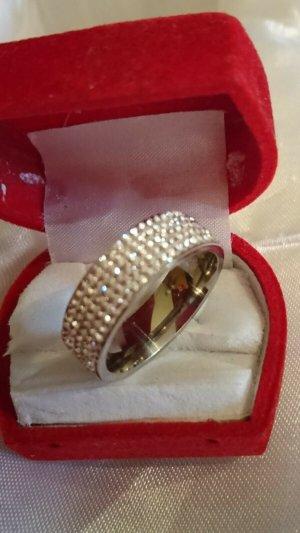 Zilveren ring zilver-wit Edelstaal