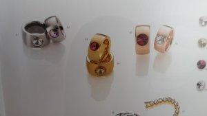 Edelstahl Ringe mit Svarowski Elements