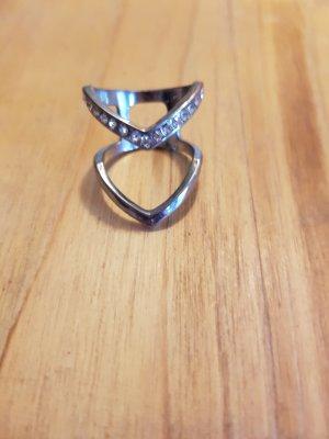 Edelstahl Silber Ring Gr. 55