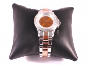Watch With Metal Strap pink-dark orange stainless steel