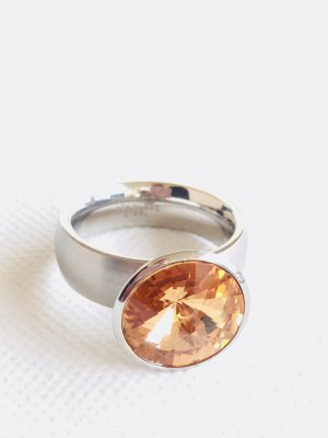 Statement Ring silver-colored-light brown