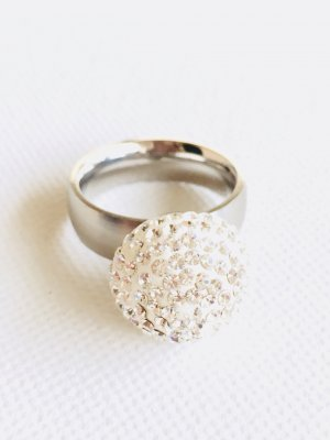 Statement Ring silver-colored-white