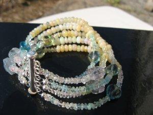 Edelstein Armband mit Opale Silber 925 Handarbeit
