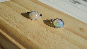 Edelstein Ohrringe  mit Natural  Opal Silber 925  Handarbeit
