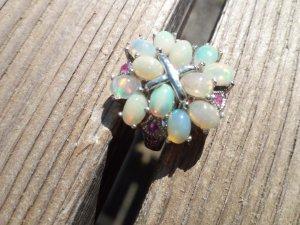Edelstein Ring mit Opale Silber 925 Handarbeit