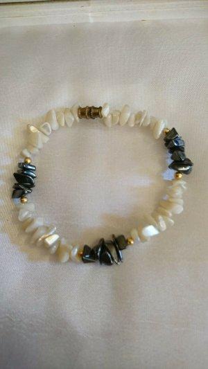 Pearl Bracelet black-natural white