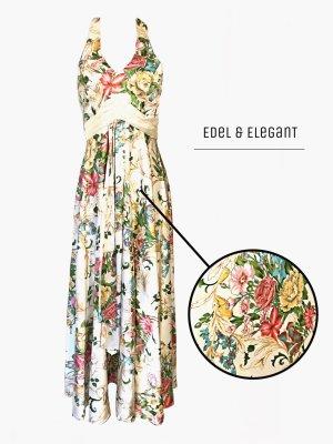 Edelweiß & elegantes Kleid für Cocktail Abende Blumen Elfenbein / kuban / 38-40