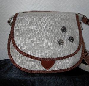 Edelweiß Tasche Trachten Bag Dirndltasche Schultertasche h m beige braun Wiesn