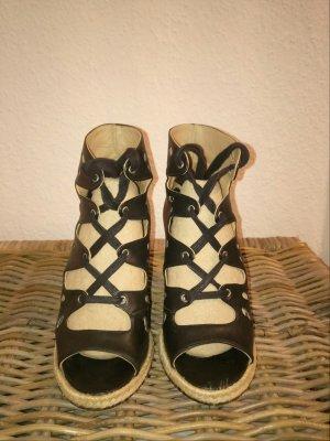 EDEN Sandaletten mit Keilabsatz, schwarz, Gr. 39