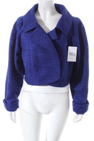 Edgar Vos Kurzjacke blau extravaganter Stil