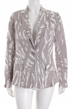 Edina Ronay Blazer grau-weiß abstraktes Muster Casual-Look