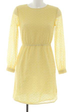 Edited A-Linien Kleid blassgelb Casual-Look