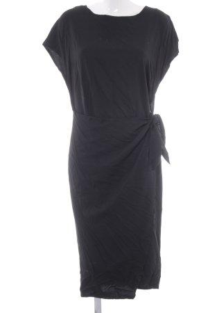 Edited A-Linien Kleid schwarz Stofflagen-Detail