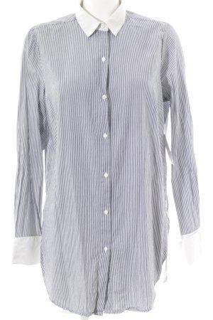 Edited Blusenkleid dunkelblau-weiß Streifenmuster Segel-Look