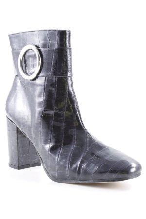 Edited Chelsea laarzen zwart dierenprint straat-mode uitstraling