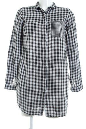 Edited Flanellen hemd wit-zwart geruite print casual uitstraling