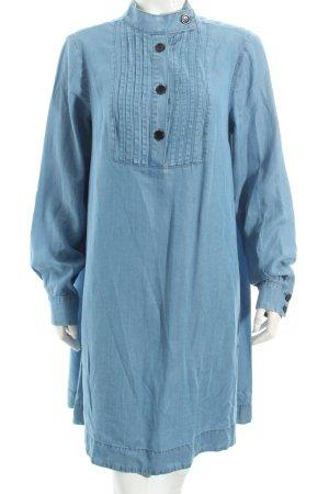 Edited Hemdblusenkleid kornblumenblau Jeans-Optik