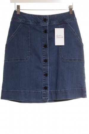 Edited High Waist Rock blau Retro-Look
