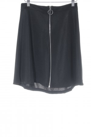 Edited High Waist Rock schwarz Elegant