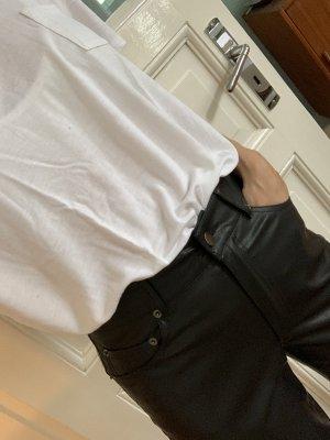 Edited Pantalón de cuero negro Poliéster