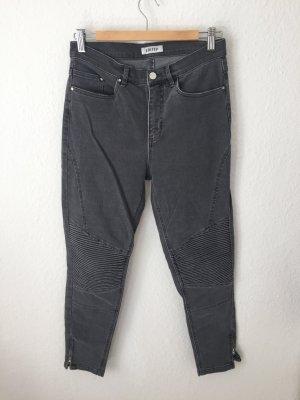 Edited Jeans Grau im Biker Style