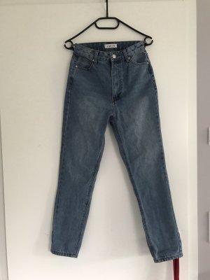 Edited Boyfriend jeans lichtblauw-azuur