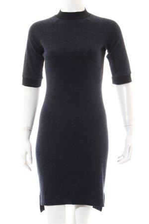 Edited Jerseykleid dunkelblau-schwarz meliert Casual-Look