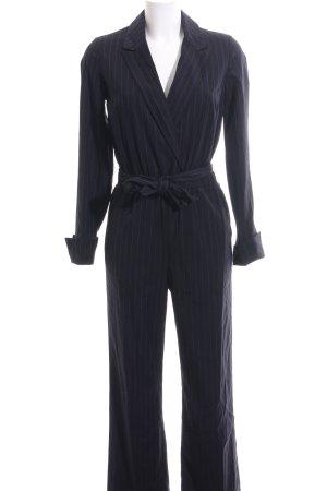 Edited Jumpsuit schwarz-blau Streifenmuster Business-Look