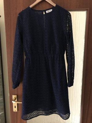 Edited Kleid Blau Lochmuster Gr. 38
