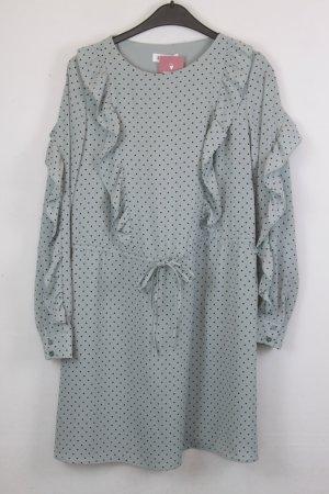 Edited Kleid Blusenkleid Gr. 38 mint mit schwarzem Punktmuster (18/5/541)