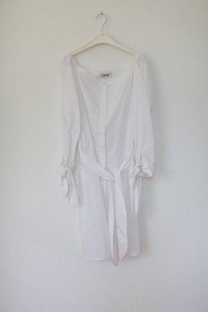Edited Kleid Hemdbluse Vintage Look Gr. 36 weiß Schleifen