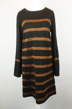 Edited Kleid Strickkleid Gr. M schwarz bronzefarben gestreift