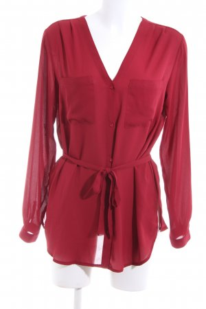 Edited Langarm-Bluse rot Business-Look