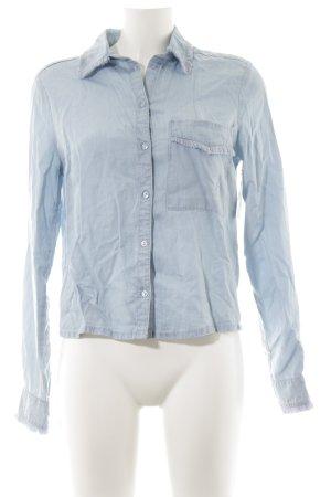 Edited Shirt met lange mouwen azuur casual uitstraling