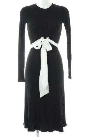 Edited Langarmkleid schwarz-weiß schlichter Stil