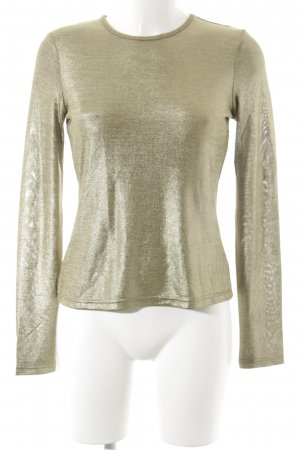 Edited Longsleeve goldfarben Glanz-Optik