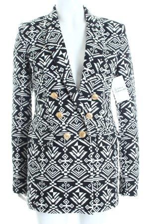 Edited Mantel schwarz-weiß Aztekenmuster Street-Fashion-Look