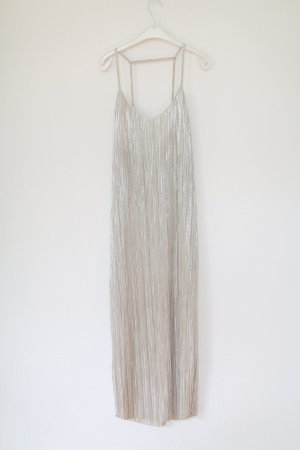 Edited Vestido largo color plata
