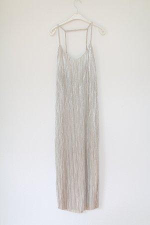 Edited Maxikleid Vintage Glam Look Silber Gr. M 38 Slip Dress