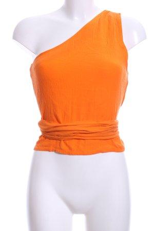 Edited One-Shoulder-Top orange Casual-Look