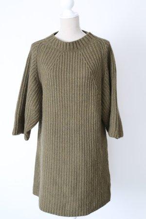 * Edited Oversize Pullover Wollkleid Kleid Strickkleid Strick L 40 grün 30 % Wolle 25 % Alpaka *