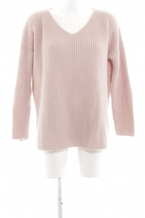 Edited Oversized Pullover pink Zopfmuster Casual-Look
