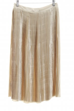 Edited Pleated Skirt gold-colored polyester
