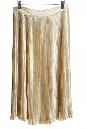 Edited Pleated Skirt gold-colored Paris-Look