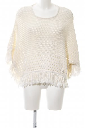 Edited Poncho natural white casual look