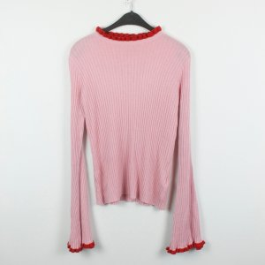 Edited Pull long rouge-rose tissu mixte